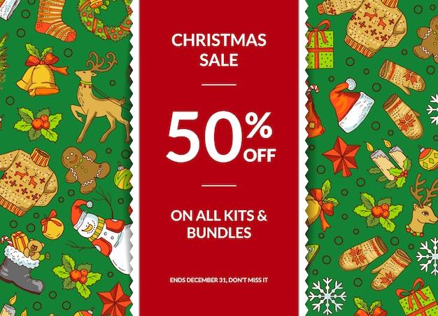 Christmas discount banner set