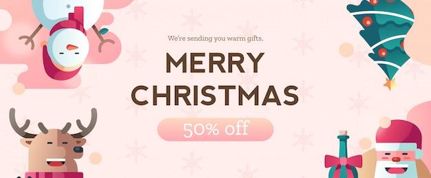 크리스마스 할인 배너 템플릿 이랑