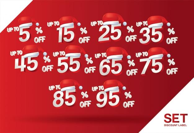 Christmas discount sale set percent