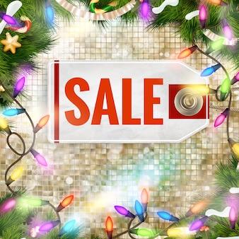 クリスマス割引、セール。