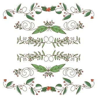 Рождественская коллекция разделителей и бордюров