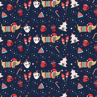 Рождественская собака - фон