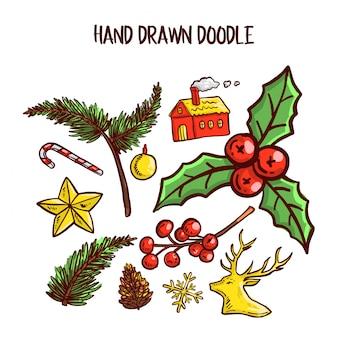 Christmas doodle art set