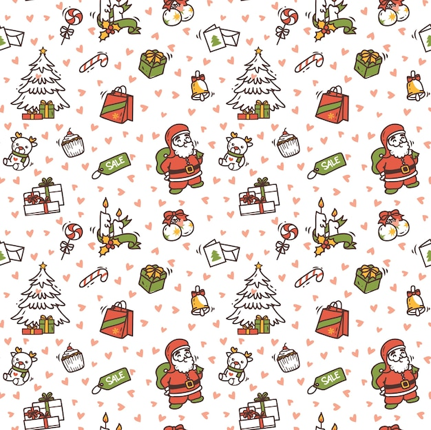 Christmas doodle background