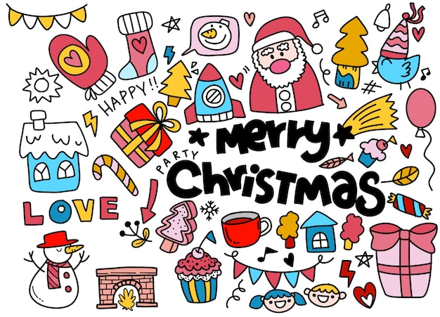 Christmas doodle collection