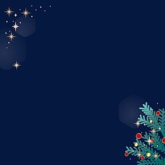 青い背景にクリスマス落書き