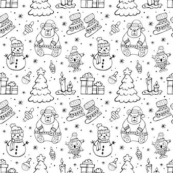 クリスマスの落書きパターン