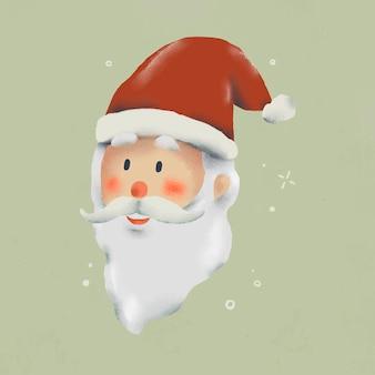 크리스마스 낙서, 산타 클로스, 귀여운 일러스트 벡터