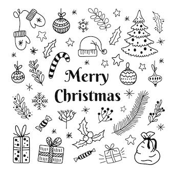 Рождественский рисунок набор элементов