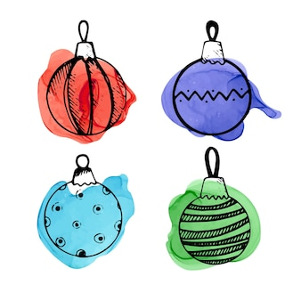 Набор рождественских каракулей