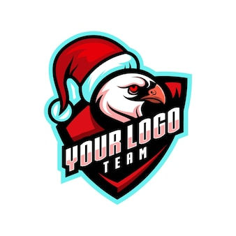 크리스마스 독수리 귀여운 캐릭터 로고