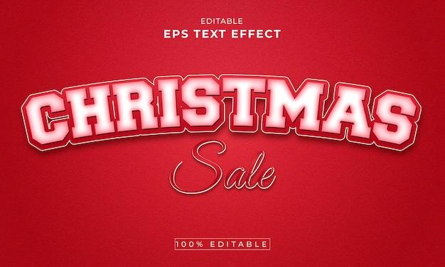 크리스마스 편집 가능한 3d 텍스트 효과 프리미엄 벡터 premium vector