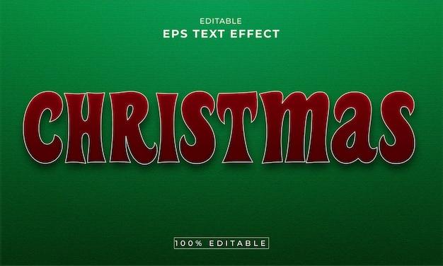 クリスマス編集可能な3dテキスト効果プレミアムベクトル