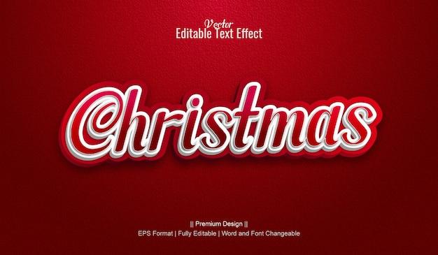 Рождественские редактируемые векторные 3d текстовые эффекты