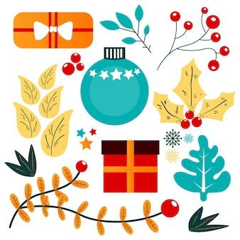 Рождественская коллекция элементов
