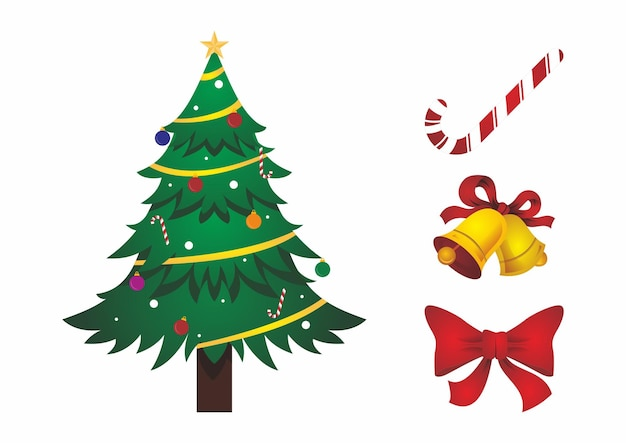 Christmas element design template collection