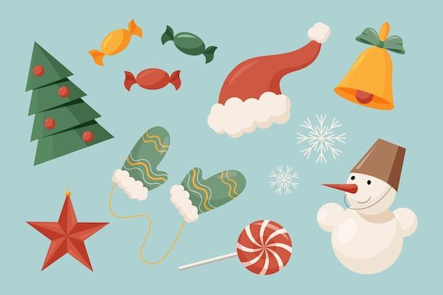 Рождественский набор элементов