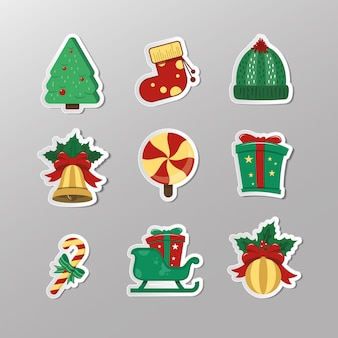Christmas element on papper cut
