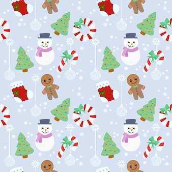 Christmas element seamless pattern.