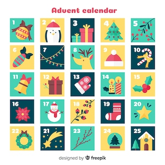 Christmas elements advent calendar