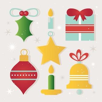 クリスマスの要素とアイコン
