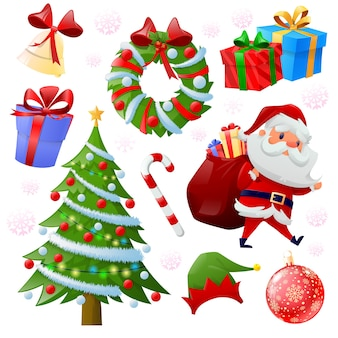 クリスマス要素コレクション Premiumベクター