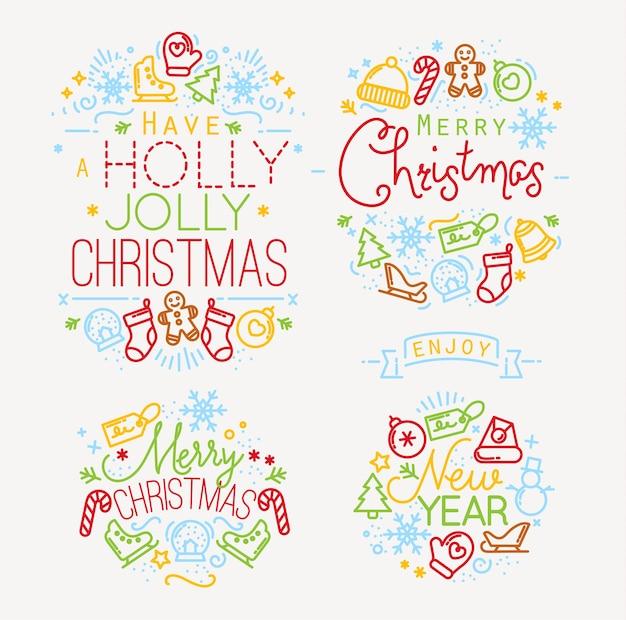 クリスマスの要素の色