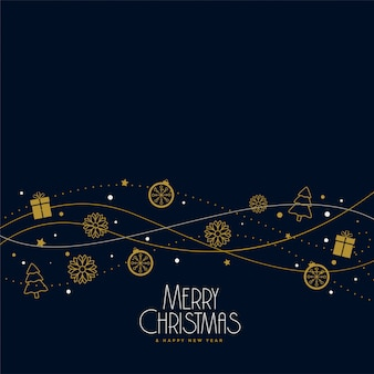 Christmas elements decoration background design