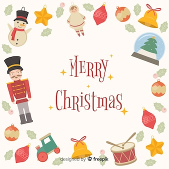 Christmas elements frame background