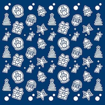 크리스마스 요소 패턴 디자인