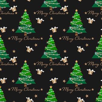Christmas elements seamless pattern.