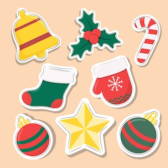 Christmas elements stickers