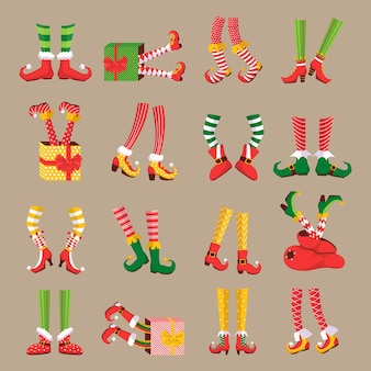 Christmas elf feet