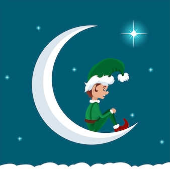 Christmas elf on the moon decanting