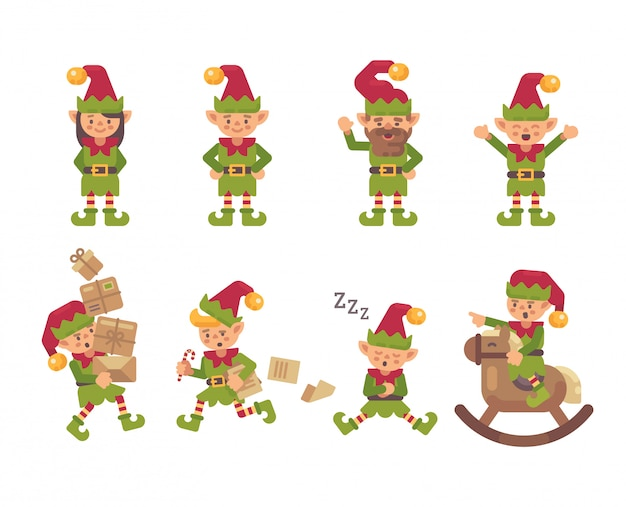 Christmas elves collection.