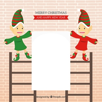 Christmas elves with letter