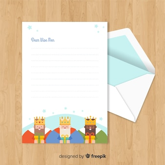 Christmas envelope and letter concept