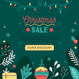 Christmas event template square flyer