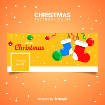 Christmas facebook cover flat socks