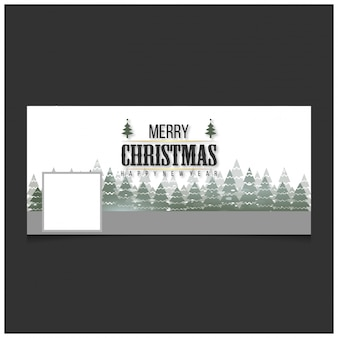 Christmas facebook cover including creative typography