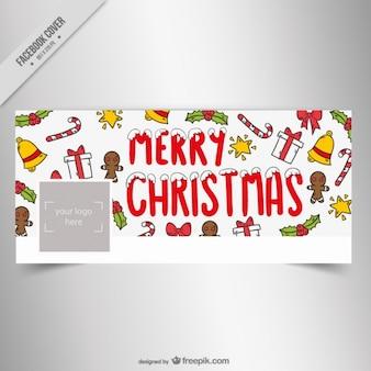 手描きつまらないものでクリスマスfacebookのカバー