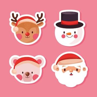 Рождественские лица персонажей