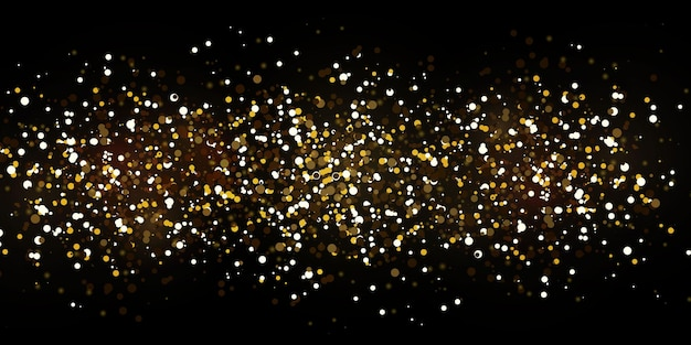 Рождественские падающие золотые огни.