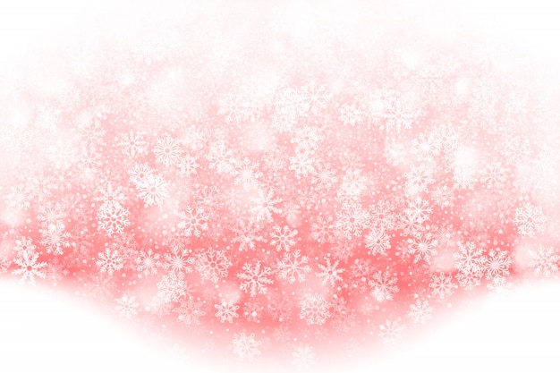 Christmas falling snow effect background