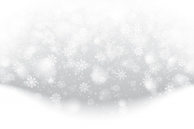 Christmas falling snow effect illustration