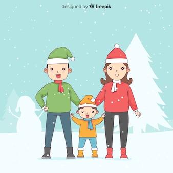 Christmas family scene