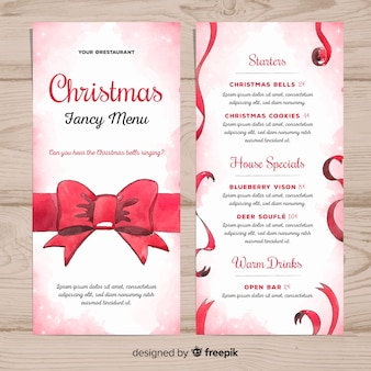 Christmas fancy menu template