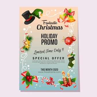 Christmas fantastic sale holiday poster bell decoration
