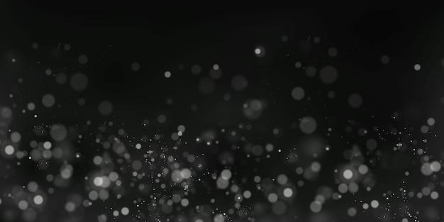 Рождественский праздничный фон из белых бликов боке размытые огни боке