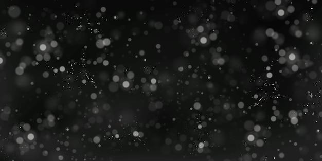 Рождественский праздничный фон из белых бликов боке размытые огни боке Premium векторы